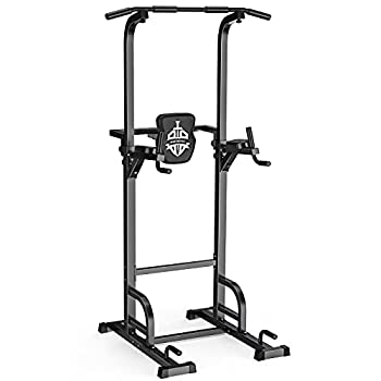 Sportsroyals Power Tower Dip Station Pull Up Bar for Home Gym Strength Training Workout Equipment 400LBS.