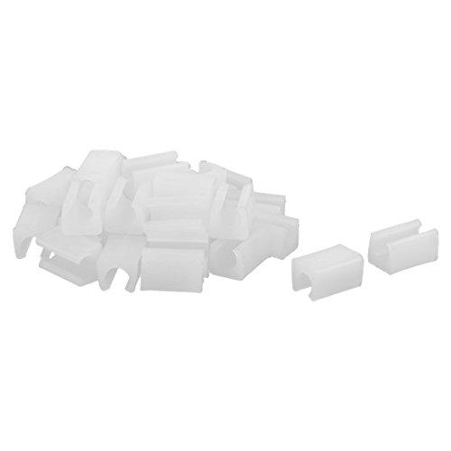sourcingmap Accessorio per mobili sedie plastica che termina gamba Cap inserto tubo bianco 30pcs