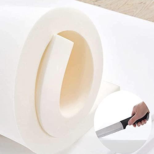 Tapicería espuma firme hoja de repuesto almohadilla de asiento acolchado de espuma, corte a medida, 60/100/150/200 cm de largo, cojines de espuma de alta densidad, colchón para perros, bricolaje