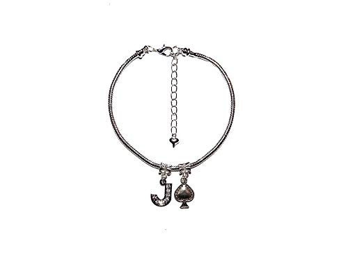 Slave 'Jack Of Spades' Euro Anklet Ankle Chain Sub Submissive Sissy Gay Style 5 - Sexy Jewels