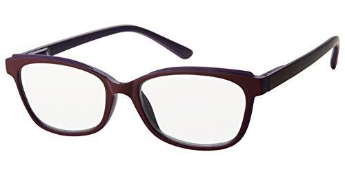 Fitsch Online UG Moderne leesbril +1,0 Design1 kant-en-klare bril met flexibele beugel voor dames en heren