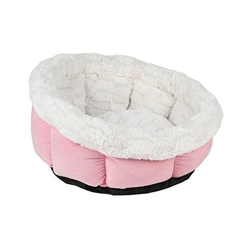 Cozywind Cama Redonda para Mascotas y Gatos-Cama para Mascotas- Cómoda y Suave-Lavable a Máquina para Gatos o Perros Pequeños (Rosa)