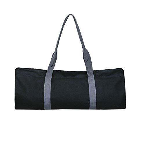 Apofly 1PC Yoga-Matte Tasche Pilatus Lagerung Fitness Aufbewahrungstasche Schultergurt Carriers Multi-Funktions-Oxford-Tuch für Pilates Yoga-Matte Schwarz