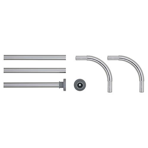 Sealskin Winkelstange für Duschvorhang, Metall, Chrom, 2 x 2 x 90 cm