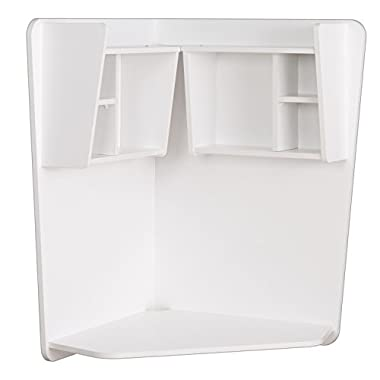 Prepac WEHW-0202-1 Floating Corner Desk, White