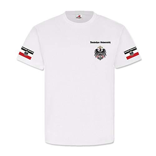 Deutsches Kaiserreich Wk 1 Adler Preußen Kaiser Wilhelm Bismarck T Shirt #25445, Größe:XL, Farbe:Weiß