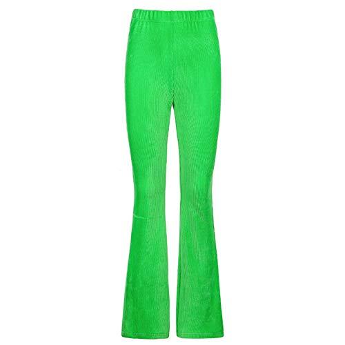 qiulanjia Pantalones de Mujer Ins Estilo Europeo y Americano Color Puro Pana elástica Y2k Micropantalones Pantalones Casuales de Todo fósforo para Mujer
