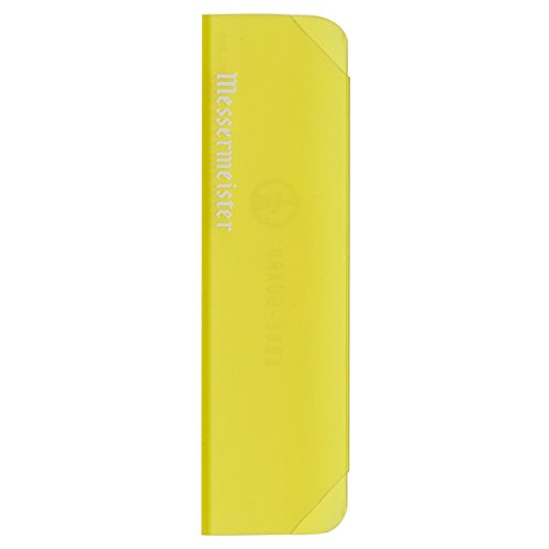 Messermeister Chef's Knife Edge Guard, 6 Inch, Translucent Yellow