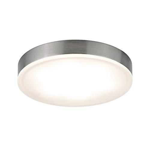Paulmann 93564 LED Möbelleuchte Unity rund incl. 3x4,5 Watt Schrankleuchte Eisen gebürstet Schranklicht Metall, Acryl Küchenlampe 2700 K