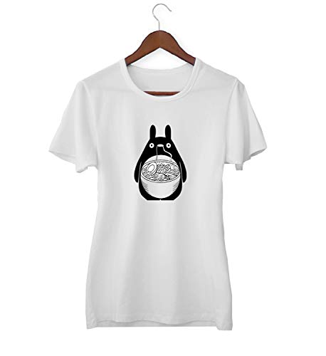 My Neighbor Totoro Ramen Food Fan_KK017526 Shirt T-shirt voor vrouwen dames - White