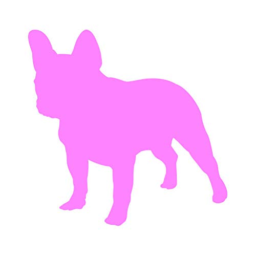 RDW French Bulldog Sticker - Decal - Die Cut - Dog Canine Frenchie - Pink 1.50' x 1.48'