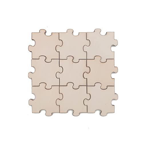 40pcs 30mm 1,18inch cubes en bois naturel Blocs de bois artisanat inachevé Puzzle Faire de l'artisanat et DIY Projets