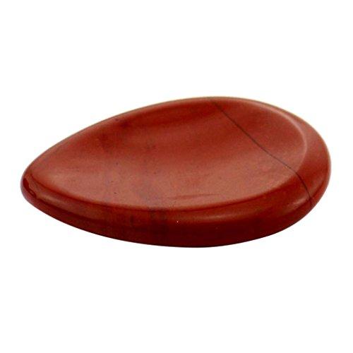 sharprepublic 1 Pieza De Piedra Natural De La Palma Tallada A Mano De Piedras Preciosas De Cristal Piedra De Preocupación Coleccionable - Jaspe Rojo