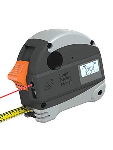 LLDKA 2 in 1 meetlint 5 m meetlint, digitale laser-afstandsmeter, oplaadbaar kleur-LCD, waterdicht