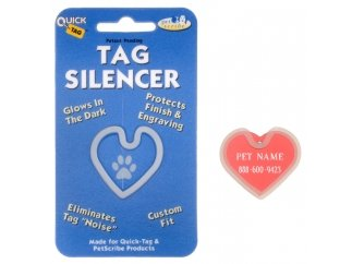 Quick Tags ID Tag Silencers- (Large Heart Tag)