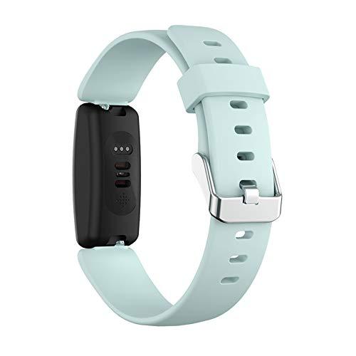 YNLRY Soft Silicone Sports Reemplazo De Reloj Correa De La Banda para Inspirar 2 Accesorios De Moda De Reloj Inteligente (Color : G, Size : L)