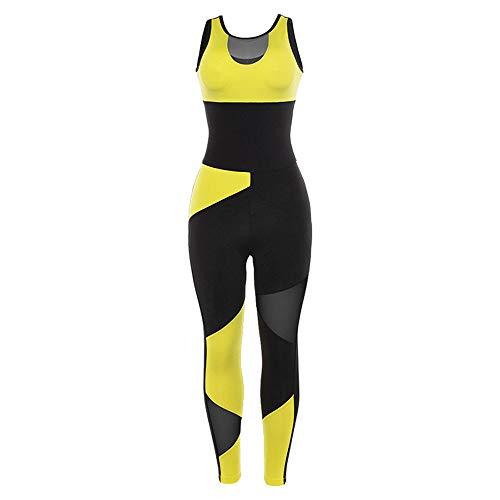 YyZCL Tuta Yoga Attillata Abbigliamento Yoga Abbigliamento Sportivo Fitness Fasciatura Stretch Pantalone Yoga Intero Tute Sportive da Donna (Dimensione : S)