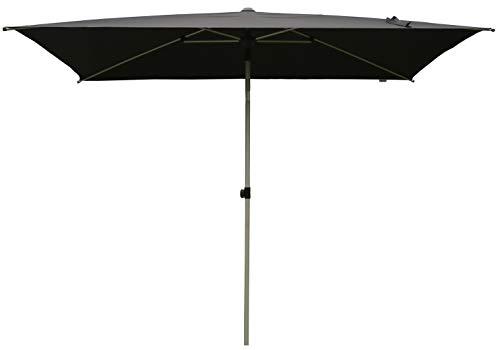 SORARA Porto Rechteckig Sonnenschirm Parasol | Schwarz | 3 x 2 m