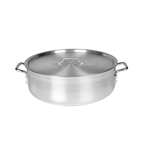 Restaurant Essentials 24 quart Aluminum brazier pot & lid mirror finish, comes in each