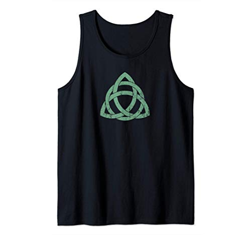 Irish Celtic Knot Triquetra Trinity Symbol Christian Faith Tank Top