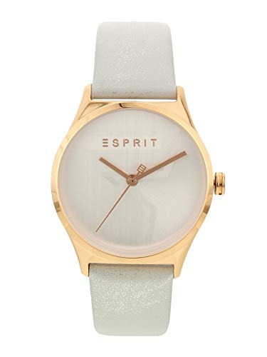 Esprit Womens Analogue Dial Synthetic Leather Watch with One Extra Bracelet - ES1L034L0215_White_Free Size