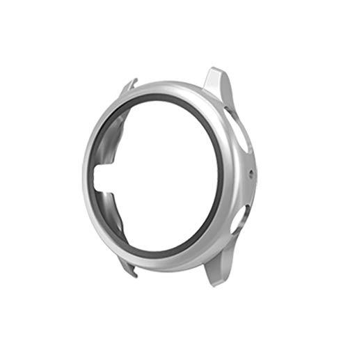 DaiMai Funda protectora para Samsung Galaxy Watch Active 2 de 40 mm con película de vidrio templado WH (color plateado)