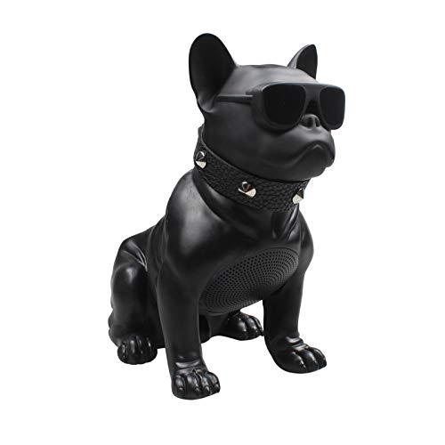 LHY BATHLEADER Bulldog Speaker,Bulldog Portable Speaker,French Bulldog Speaker,Bluetooth Control Dog Speaker Gift to Friends Boy Girl Child Kid Teacher Birthday Christmas,Black