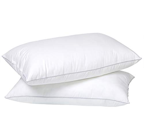 NEKOCAT Bed Pillows 2 Pack 20x 30 1200g/Pack Cooling Soft Sleeping Pillows 100% Cotton Cover Adjustable Down Alternative Queen Size Hypoallergenic Pillows for Side, Stomach and Back Sleepers