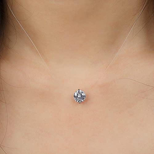 MIKUAJ Collar Collar de Diamantes Personalizado, Collar con Letras de Cristal pavimentado, Collar con Nombre Personalizado, Collar con Colgante de Letras de Diamantes, joyería