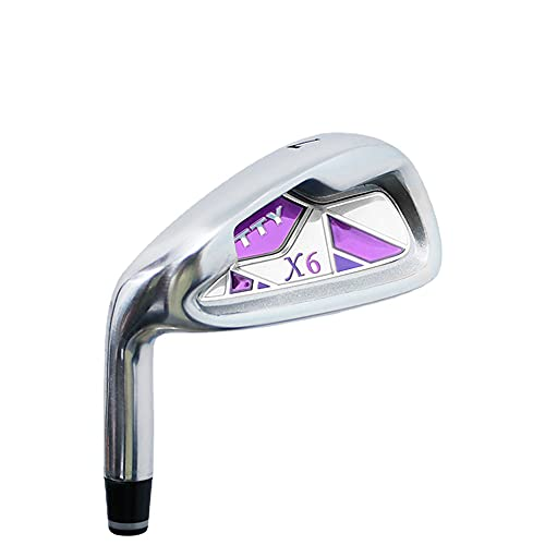Club de golf para zurdos #7, palos de golf para mujeres y hombres, golf principiantes, caña de acero al carbono, caña de...