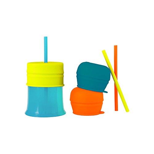 Boon SNUG STRAW drinkbeker set drinkbeker beker snackbox met rietjes voor baby's vanaf 12 maanden multicolor