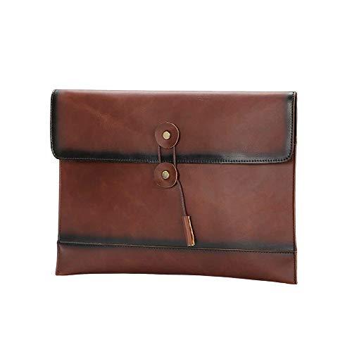 Boss Bag PU lederen herentas retro heren enveloppentas zakelijke A4 papier File pakket grote capaciteit handtas casual vrouwelijke handtas (kleur: koffie, maat: M)