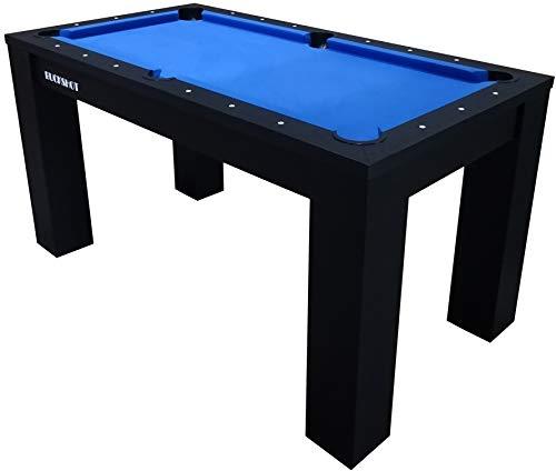 Buckshot Billardtisch 5ft - 152x81x79 cm Oxford - Tischbillard mit Zubehör - 5 Fuß Pool Billard - 60KG - Schwarz/Blau
