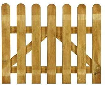 ITALFROM Cancelletto in Legno con Doghe di Pino per Steccato - Dimensioni: L 100cm x H 100cm