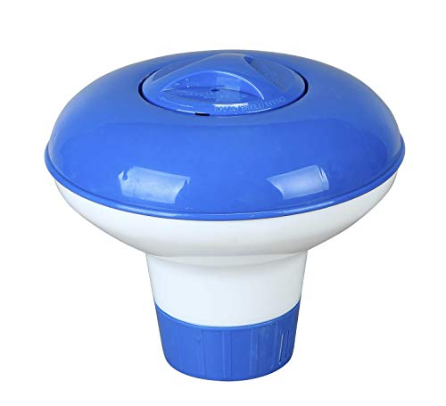 Tamar Clorador Flotante para pastillas de 20 grs, Especial Mini Piscinas / Spas. Con regulador de dosificacion.