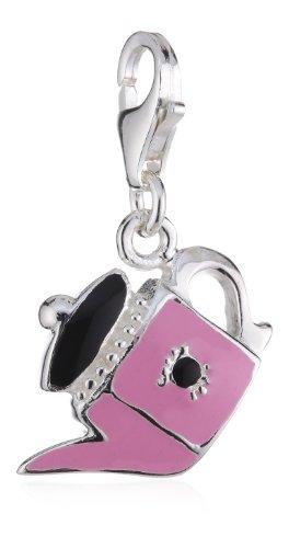 Pasionista unisex hanger roze-zwarte gieter 925 sterling zilver 607818
