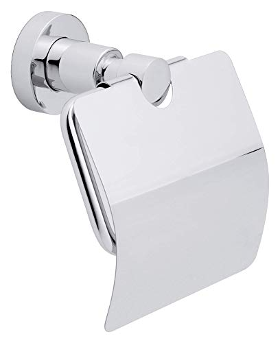 Price comparison product image tesa UK tesa Loxx Soporte de Papel wc con tapa,  Chrome-Plated,  Standard,  round