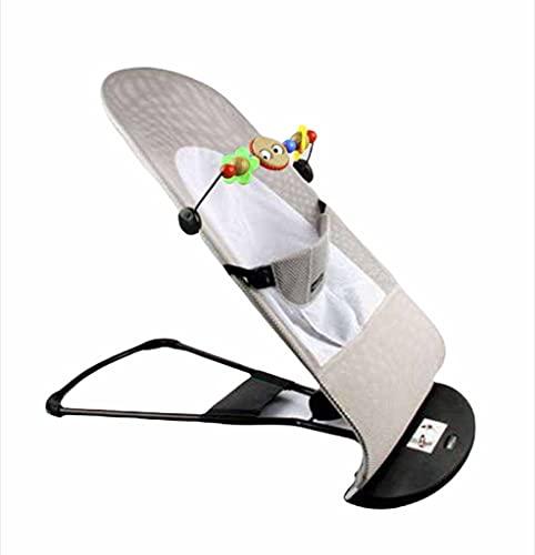 Hamaca bebé Plegable con balanceo natural, NOVEDAD!! ergonómica, tejido transpirable, suave y antialérgico, 3 posiciones, arco de juguete con música y...