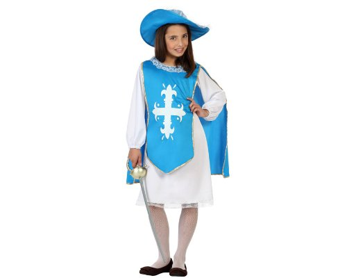 ATOSA 23666 - Musketier Mädchen Kostüm, Größe 116, blau