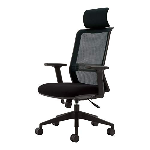 コクヨ エントリー 椅子 ブラック メッシュタイプ デスクチェア 事務椅子 コクヨリーズナブルシリーズ CR-B...