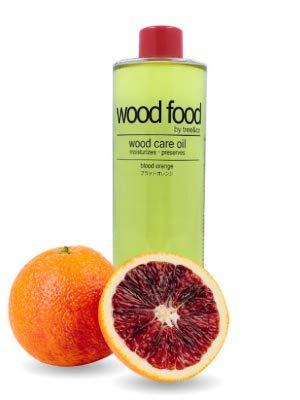 WOOD FOOD [Hautpflege für Holz und Bambus] Holzpflegeöl Für Schneidebretter, Möbel und Holzspielzeug (Blutorange, 400ML)