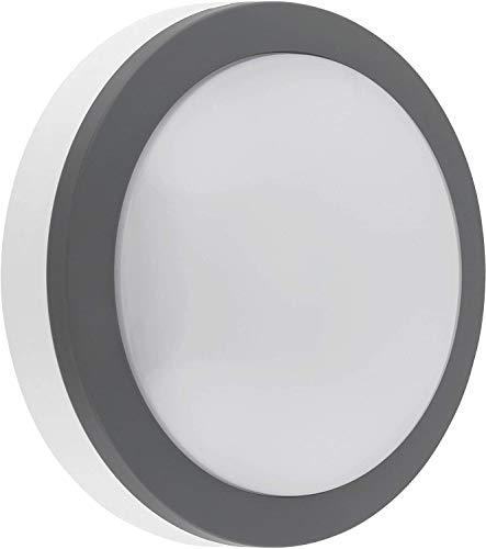 LED Aussen Sensorleuchte 12W IP65 mit HF-Bewegungsmelder - Deckenleuchte Wandleuchte - tagesweiß (4000 K)