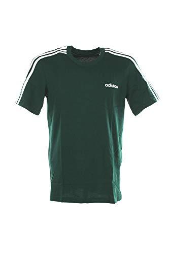 adidas E 3S Tee, T-Shirt Uomo, Collegiate Green/White, M
