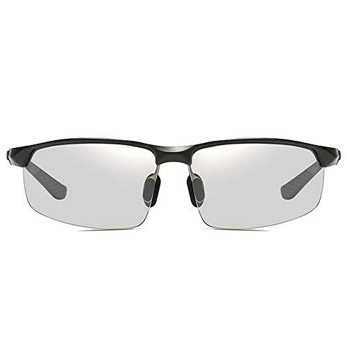 SWNN Sunglasses Nuevas Gafas De Sol Polarizadas De Aluminio Brillante De Magnesio UV400 Gafas De Sol De Tendencia De Plata/Negro/Plateado Lentes Fotocrómicas De Conducción for Hombres
