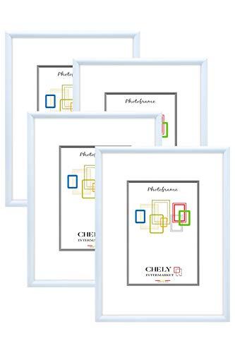 Chely Intermarket, Marcos de Fotos A3 MOD-313 (Blanco frío) (Pack 4uds) Decoración de casa | Fotografías de Boda | Paisajes | Listado de Precio | Certificados universitarios (313-A3*4-0,45)