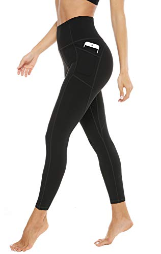 JOYSPELS Leggings Damen, Sporthose Lang Sportleggins, High Waist Sport Leggins für Damen, Schwarz, L=DE42