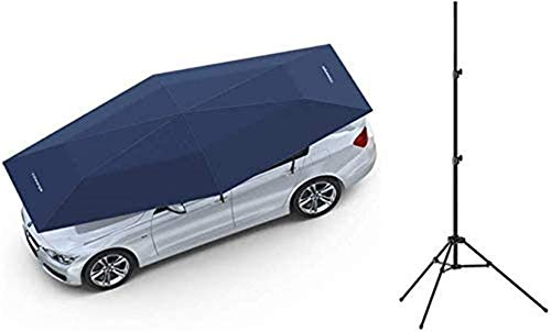 Car Sunshades Outdoor Shelters Folding Sunshade Awning Automatic Security Mobile Camping Tent Automatic Vehicle Grill Cover, Size 2 (Color : Gray-4.2x2.3cm) (Color : Blue4.2x2.3cm)