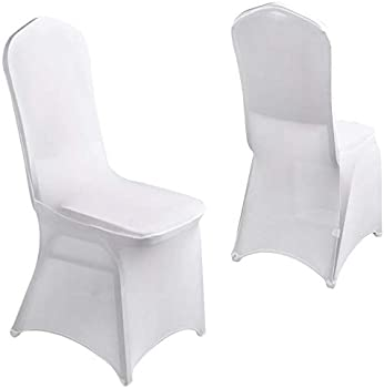 20-Pieces Prasacco White Stretch Spandex Chair Covers