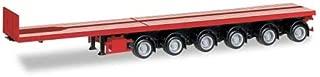 Nooteboom Ballasttrailer, red, 0, Model Car,, Herpa 1:87