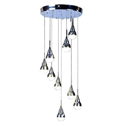 YMBLS Candelabro de Decoración de Interiores, Candelabro Led de 9 Luces, Lámpara de Techo con Pantalla de Aluminio, Lámpara Colgante de Restaurante Y Cafetería